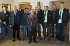 Die Geehrten des Fischereivereines Furth im Wald mit 1. Vorsitzenden Franz Sporer (rechts)