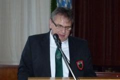Vorsitzender Franz Sporer bei seinem Jahresrückblick
